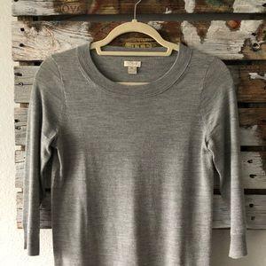 jcrew factory: grey sweater